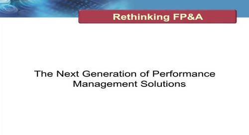 Rethinking FP&A: An Analyst's View