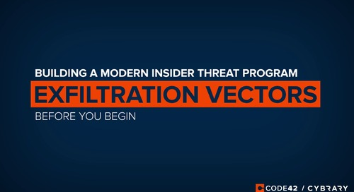Top Exfiltration Vectors for Insider Threats