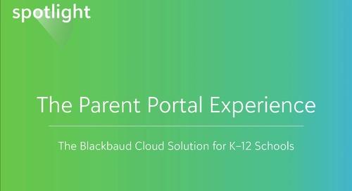The Parent Portal Experience