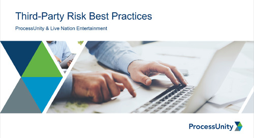 Third-Party Risk Management at Live Nation Entertainment