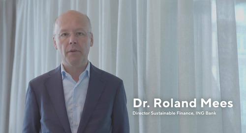 Dr. Roland Mees, Director of Sustainable Finance, parla del prestito per il miglioramento della sostenibilità di ING