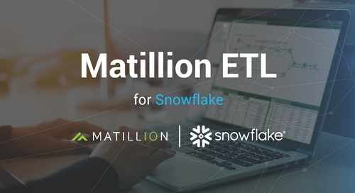 Introducing Matillion ETL for Snowflake