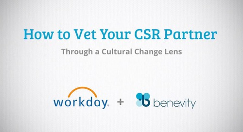 How to Vet Your CSR Partner Through a Cultural Change Lens [Archived on March 16, 2018]