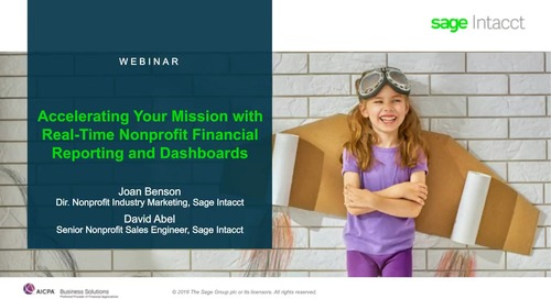 Accelerating Your Mission with Real-Time Nonprofit Financial Reporting and Dashboards