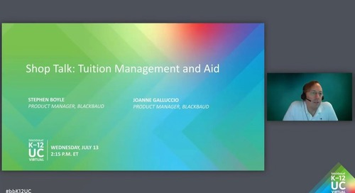 Shop Talk: Tuition Management and Aid
