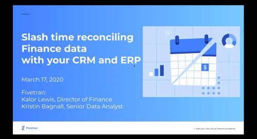 Slash Time Reconciling Finance With Your CRM and ERP data