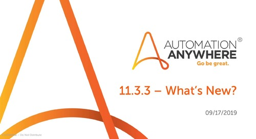 What's New in Automation Anywhere Enterprise 11.3.3?