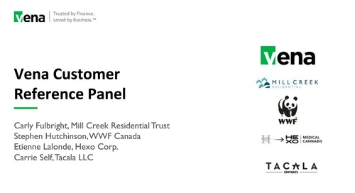 Vena Customer Reference Panel September 2019