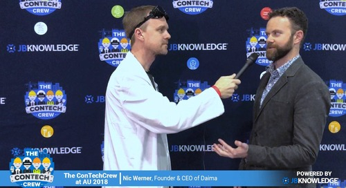 The ConTechCrew at AU 2018: Rob McKinney chats with Nic Werner from Daima