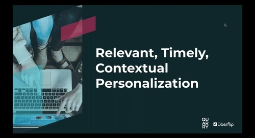 [On-Demand] Relevant, Timely, Contextual Personalization