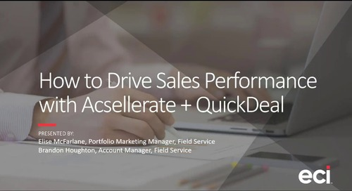 How to Drive Sales Performance with Acsellerate + QuickDeal