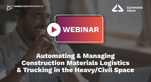 Automating & Managing Construction Materials Logistics & Trucking | Burger Consulting
