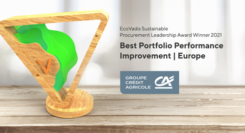 Crédit Agricole, Best Portfolio Performance Improvement Award, Europe - Sustain 2020