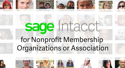 Sage Intacct for Nonprofit Membership Organizations and Associations