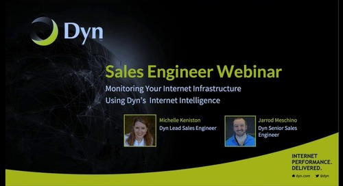 Time With A Technologist: Monitoring Your Internet Infrastructure with Internet Intelligence