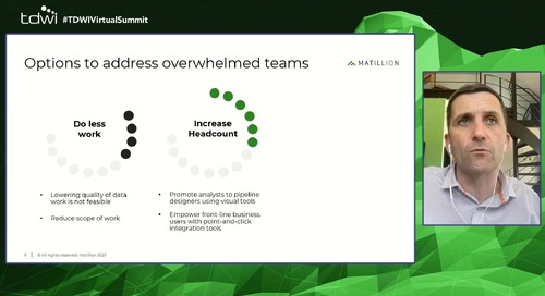 Spotlight Session - Giving up Control Improving Analytics for Overwhelmed Data Teams (TDWI Virtual Summit)