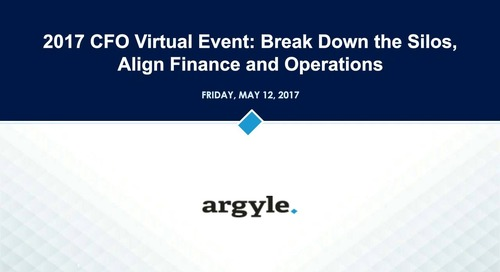 Break Down the Silos, Align Finance & Operations