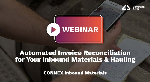Automated Invoice Reconciliation for Your Inbound Materials & Hauling