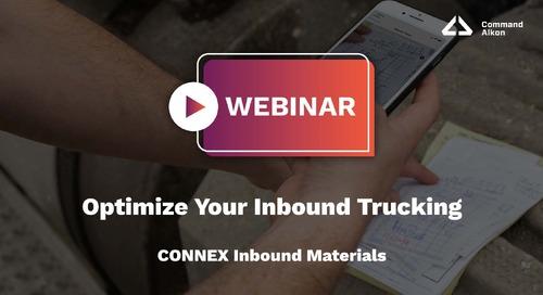 Optimize Your Inbound Trucking   CONNEX Inbound Materials