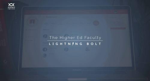 Appirio's Higher Education Faculty Lightning Bolt