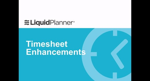 Timesheet Enhancements Webinar