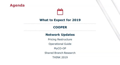 Q1 2019 CO-OP Shared Branch Update Webinar Strengthening the Network for Growth_2-6-2019