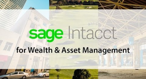 Sage Intacct for Wealth and Asset Management Firms