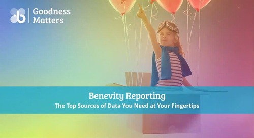 Benevity Reporting: The Top Sources of Data You Need at Your Fingertips