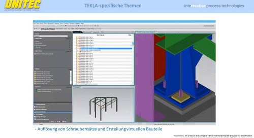 Tekla Structures - Integration mit Siemens Teamcenter