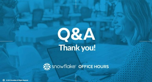 Snowflake Office Hours - DriveTime