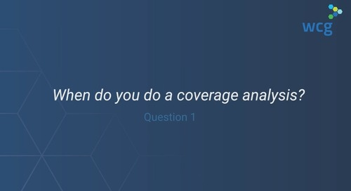 Coverage Analysis: Your Questions Answered 1