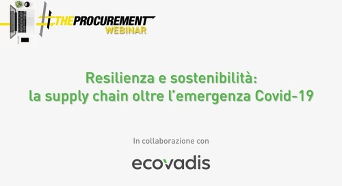 [Webinar The Procurement] Resilienza e sostenibilità nella supply chain
