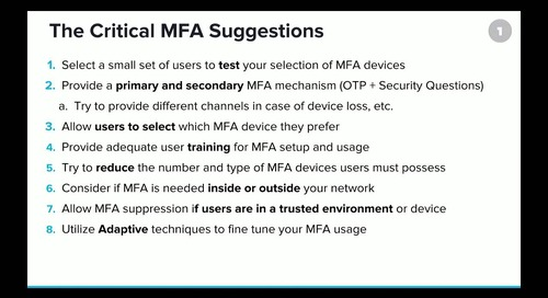 Critical Steps to Deploying MFA at Enterprise Scale Without Regrets