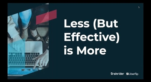 [On-Demand] Less (but Effective) is More