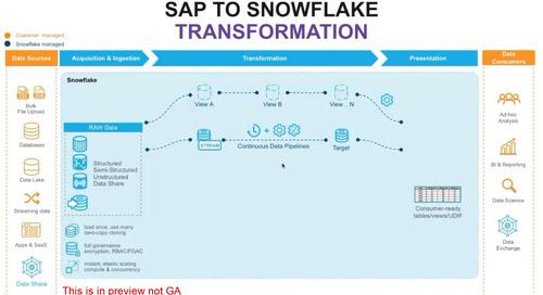 SAP to Snowflake: Transforming Data