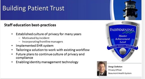 The State of Patient Privacy Monitoring and Its Future (Part 1)