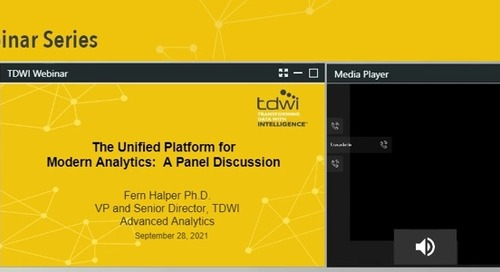 TDWI Expert Panel - The Unified Platform for Modern Analytics