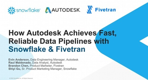 How Autodesk Achieves Fast, Reliable Data Pipelines with Snowflake and Fivetran