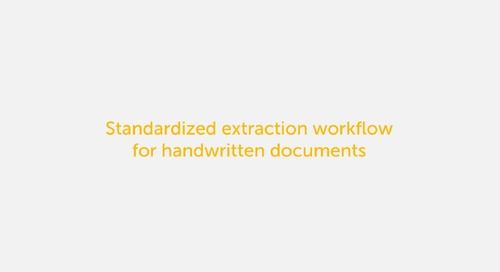 IQ Bot Use case - Handwriting Extraction
