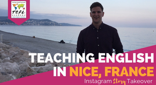 Day in the Life Teaching English in Nice, France with Sean Bouland
