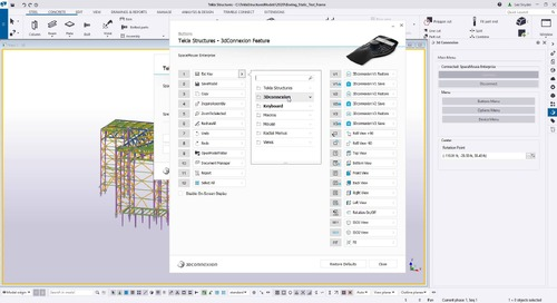 3Dconnexion Integration with Tekla Structures