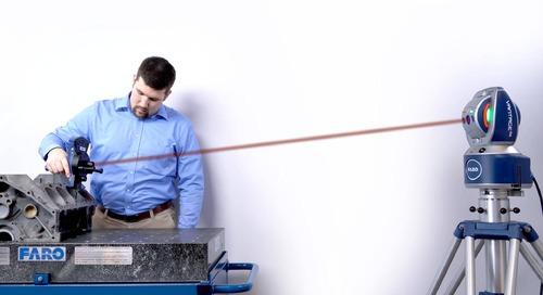 Um revolucionário avanço na tecnologia Laser Tracker com 6 graus de liberdade (6DoF)