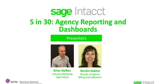 5 in 30: Agency Reporting and Dashboards Best Practices