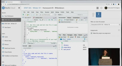 RStudio Cloud for education - Mel Gregory