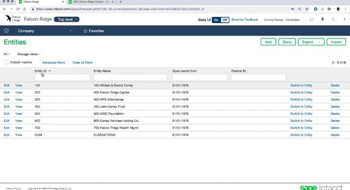 Sage Intacct Product Tour for Financial Services Part 2 Multi-Entity Consolidated