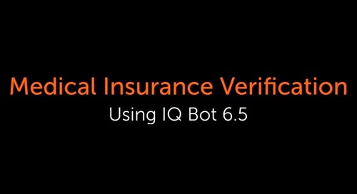 IQ Bot Use case - Medical verification Form