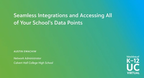 Seamless Integrations and Accessing All of Your School's Data Points