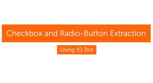 IQ Bot How To - Checkbox Extraction