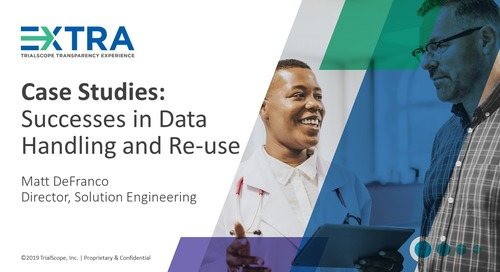 Successes in Data Handling and Re-use