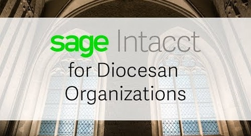 Sage Intacct for Diocesan Organizations